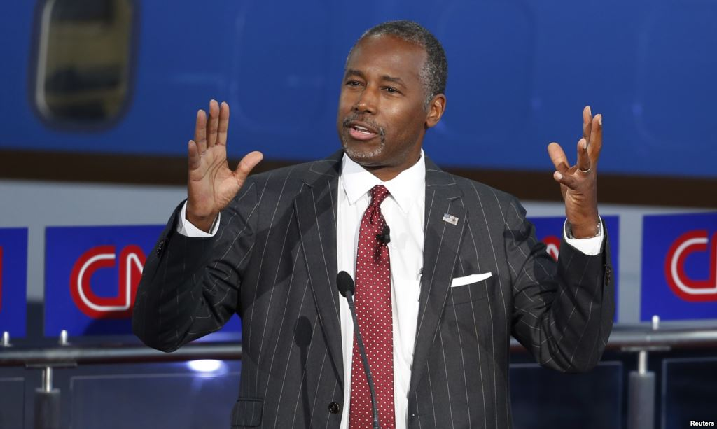 Republican U.S. presidential candidate Dr. Ben Carson speaks during the second official Republican presidential candidates debate Sept. 16 2015