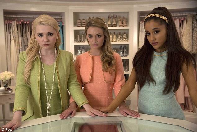 Shocking beginning Abigail Breslin Billie Lourd and Ariana Grande as sorority girls in Fox's new comedy horror show Scream Queens