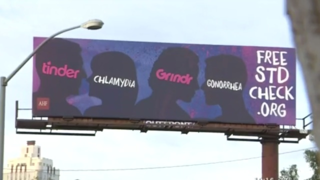 The AHF billboard in West Hollywood