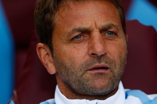 Tim Sherwood Manager of Aston Villa looks