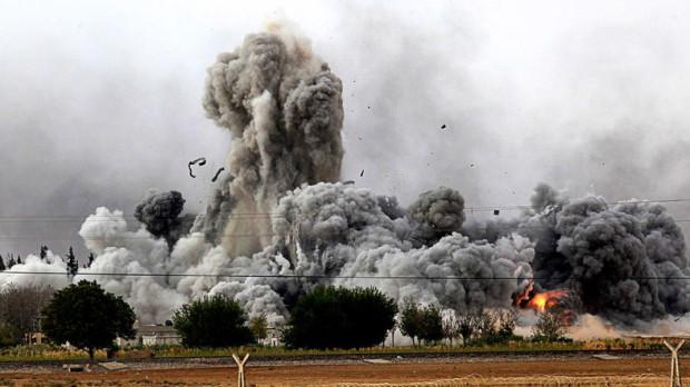 As UN envoy visits Damascus Syrian warplanes hit ISIS-held Raqqa