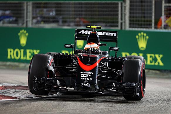 Jenson Button McLaren Singapore GP 2015