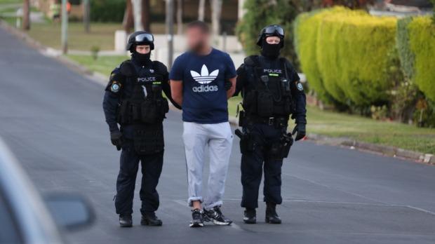 A man is arrested in Lockwood Street Merrylands