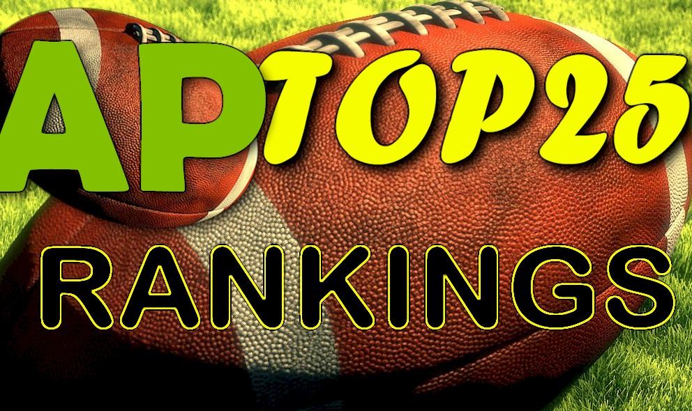 AP Top 25 Poll College Football Rankings Week 6 Shock Today October 4
