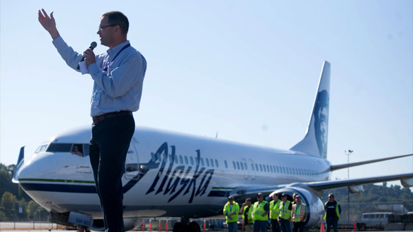 Alaska Airlines CEO Brad Tilden. Image AP