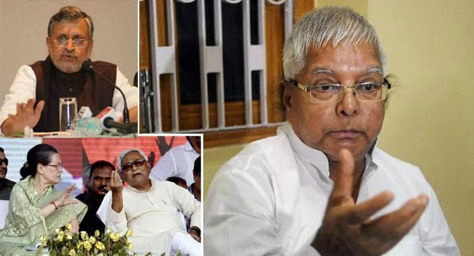Sushil Modi swirls Nitish Sonia over Lalu's beef remark