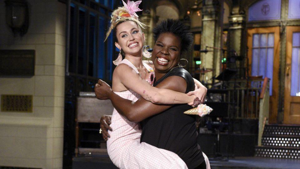 C+      Miley Cyrus Leslie Jones      Miley Cyrus Leslie Jones