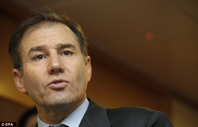 Under pressure Last month Glencore run by Ivan Glasenberg laid out debt reduction plans to trim £6.6billion from its £20billion debt mountain and raised £1.6billion