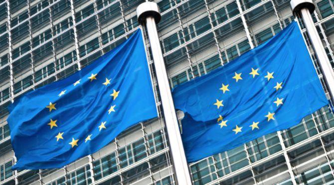 Pair of EU Flags
