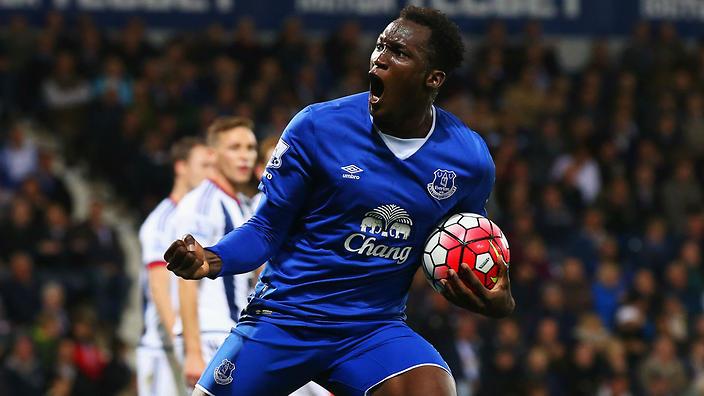 Everton striker Romelu Lukaku                                                  Show Grid