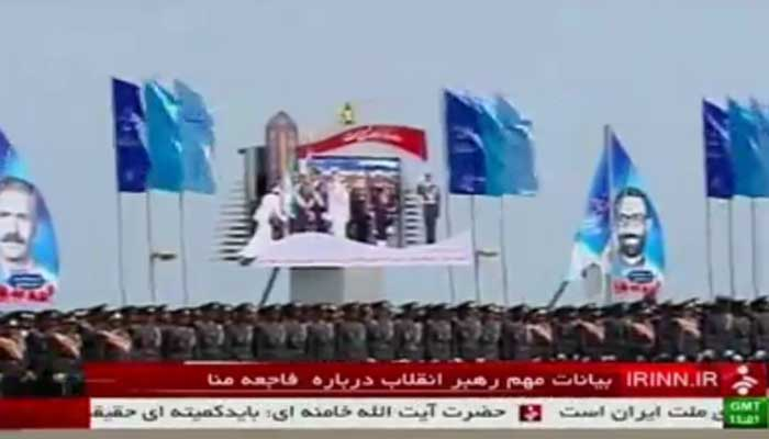 Iran's top leader used a military parade to threaten Saudi Arabia