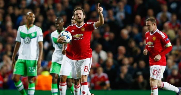 Juan Mata Equalised for Manchester United against Wolfsburg