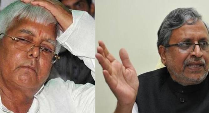 EC issues notice to Lalu Sushil Modi