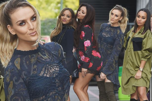 Perrie rocks daring look as she leaves the ITV studios