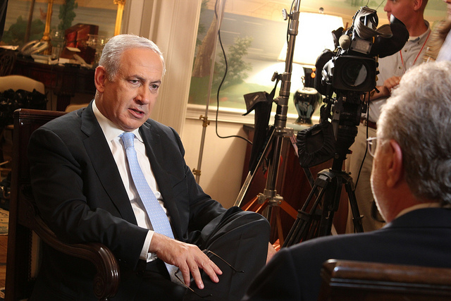 Prime Minister Benjamin Netanyahu with CNN's Wolf Blitzer