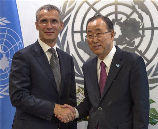 Jens Stoltenberg Ban Ki-moon