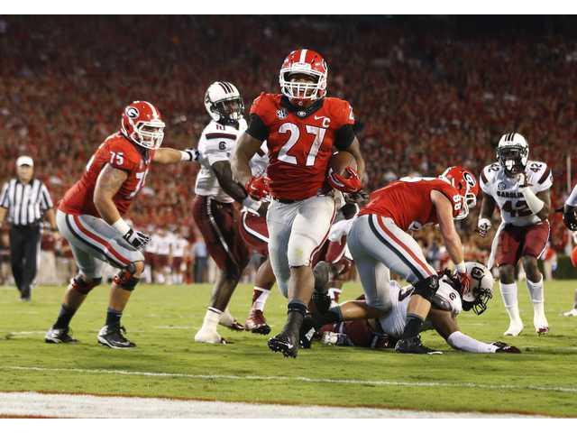 Eighth-ranked Georgia preparing for familiar nemesis No. 13 Alabama