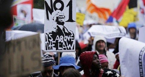 Protesters Gather for Anti Corruption March in Pretoria