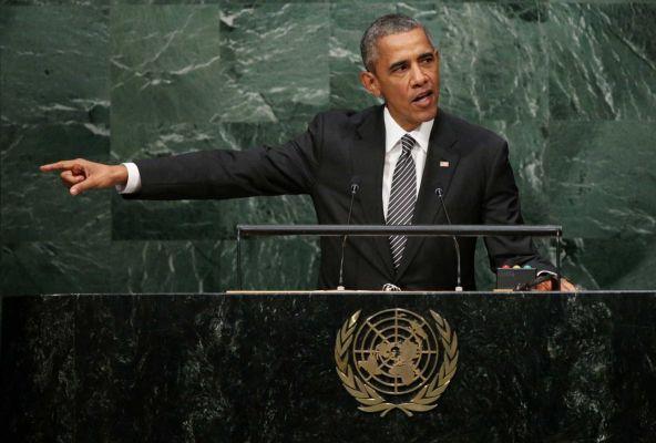 President Barack Obama delivers his address during the