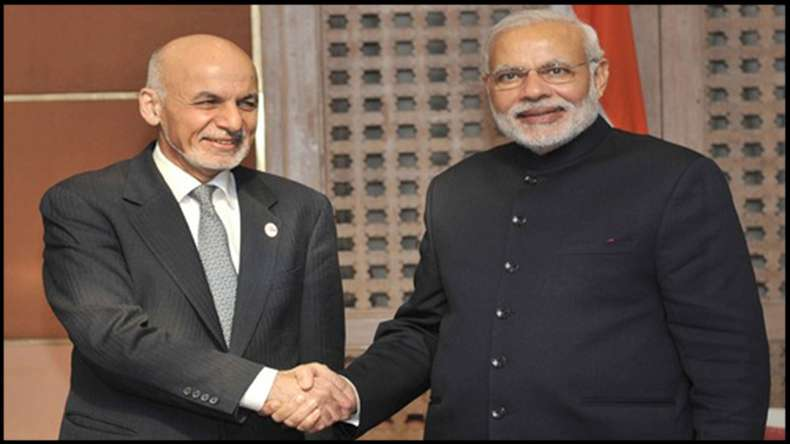 Modi Ghani inaugurate new parliament building in Kabul