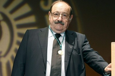 """Italian best-selling writer and philosopher Umberto Eco was best known for his novel """"TheName of the Rose."""""""