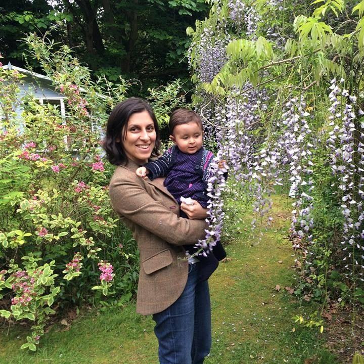 Nazanin Ratcliffe with her daughter Gabriella
