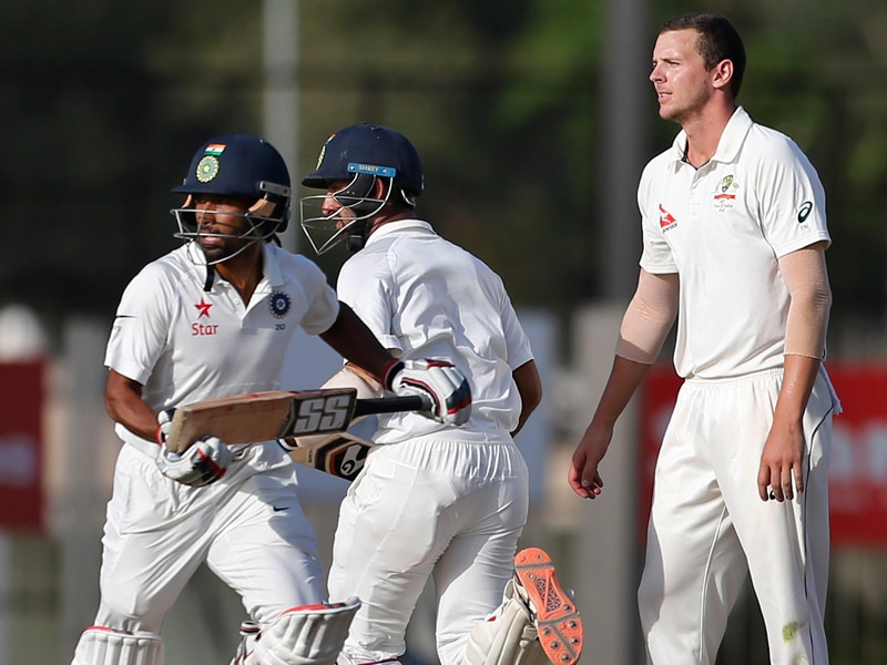 India will resume their first innings at 6-360 on day four against Australia in Ranchi