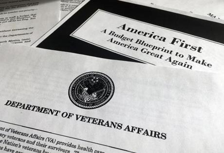 A portion of President Donald Trump's first proposed budget focusing on the Department of Veterans Affairs and released by the Office of Management and Budget