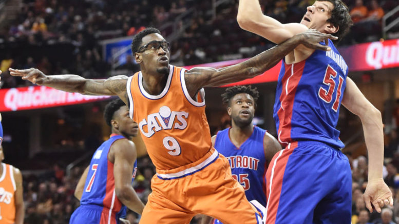 Larry Sanders made his Cavaliers debut on March 14