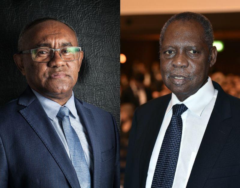 Ahmad Ahmad head of the Madagascar Football Assocation and Confederation of African Football president Issa Hayatou