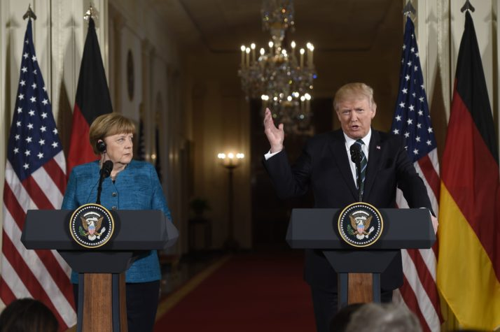 Trump, Merkel to Face-Off on EU, NATO