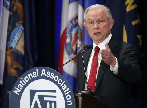 Attorney General Jeff Sessions speaks at the National Association of Attorneys General annual winter meeting Tuesday Feb. 28 2017 in Washington