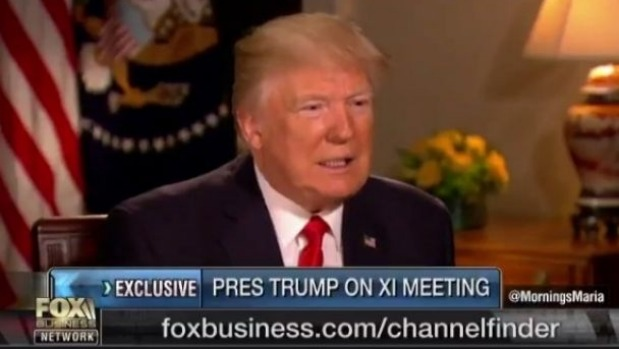 US President Donald Trump discusses the Syria strike on the Fox Business Network