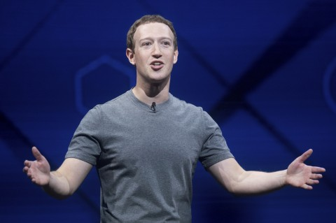 Facebook CEO Mark Zuckerberg speaks at his company's annual F8 developer conference Tuesday in San Jose Calif