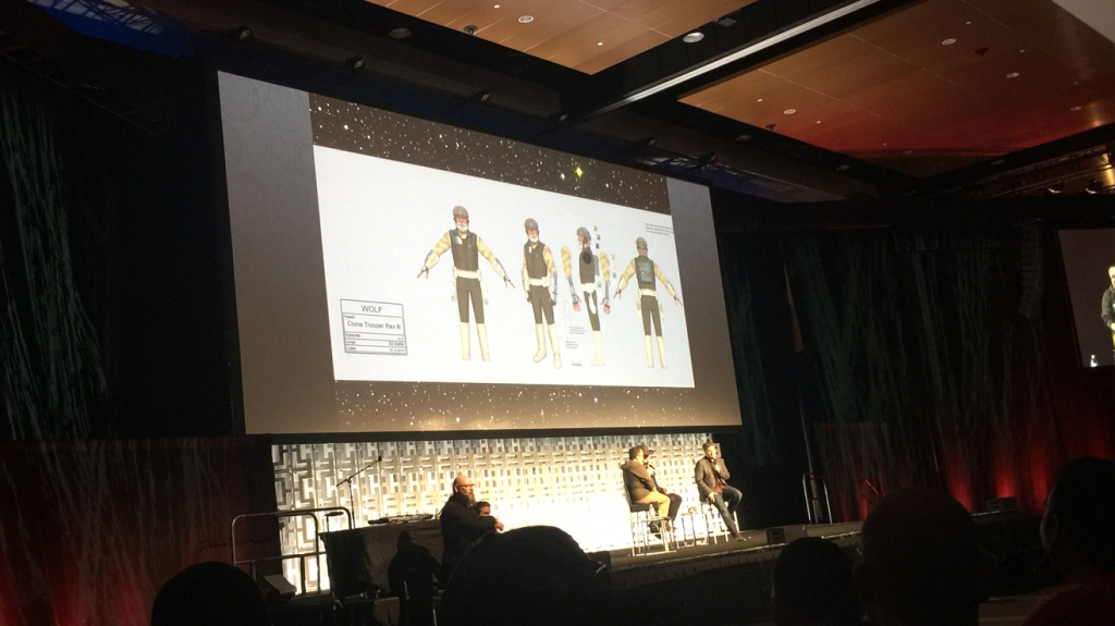 Star Wars Rebels Season 4 Rex preview image shown at Star Wars Celebration