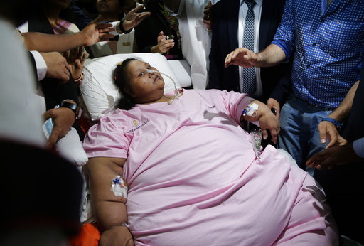 325 kilograms lighter Egyptian woman leaves India
