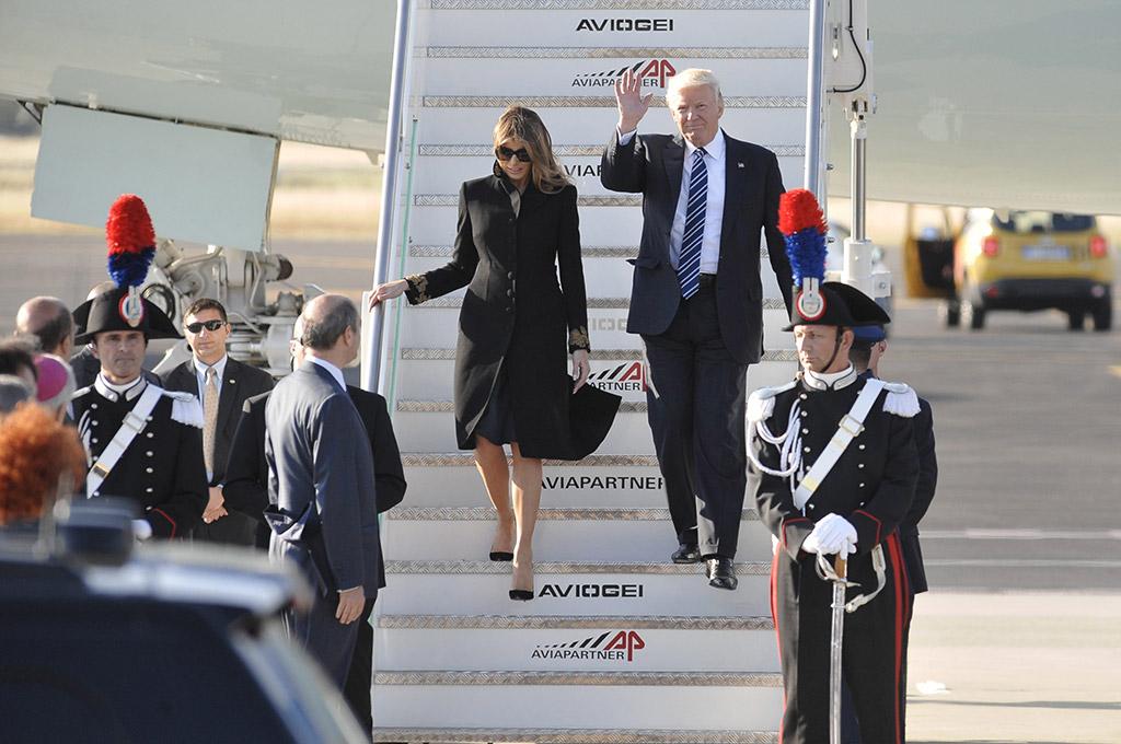 Melania Trump Donald Trump Italy trip