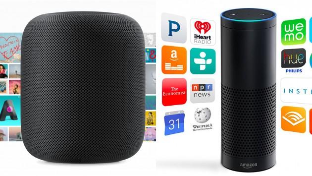 Apple Home Pod Amazon Echo