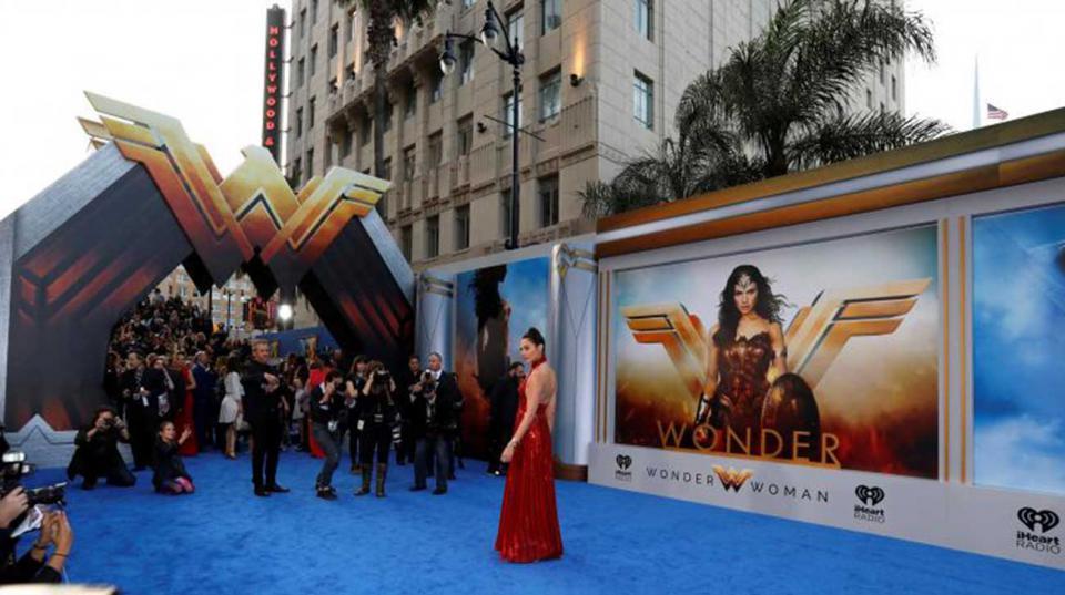 Cast member Gal Gadot poses at the premiere of'Wonder Woman in Los Angeles California U.S