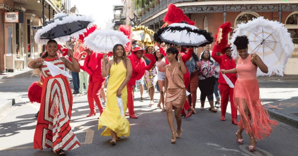 From left Queen Latifah Regina Hall Jada Pinkett Smith and Tiffany Haddish in Girls Trip