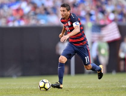 Midfielder Alejandro Bedoya has been relied on heavily by the United States thus far into the tournament. Credit David Richard-USA TODAY Sports