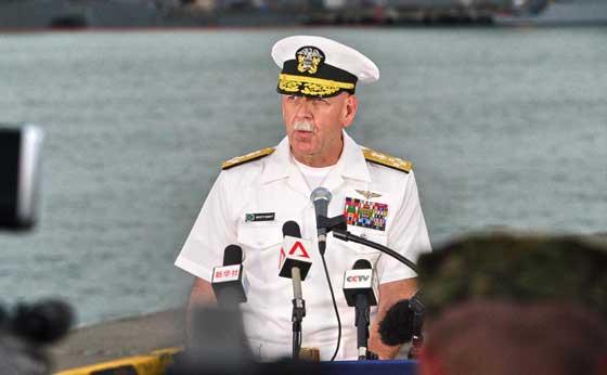 RELIEVED Admiral Scott Swift commander of the US Pacific Fleet. AFP