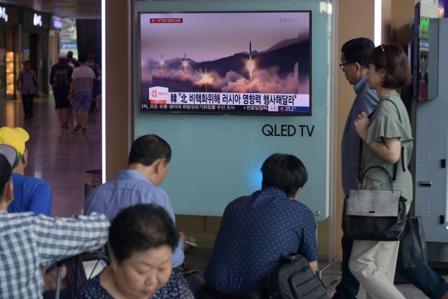 North Korea fires short-range missiles US military