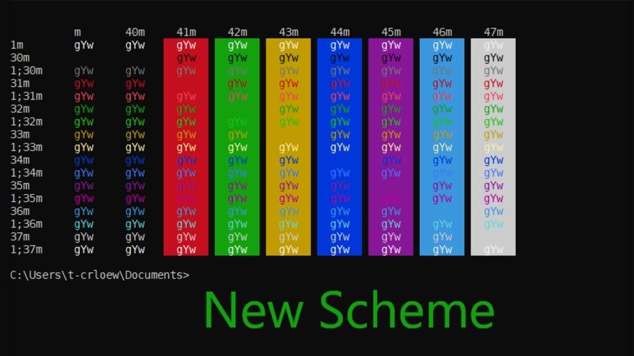 Windows Console New Scheme