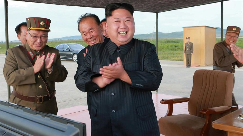 Dictator North Korea's Kim Jong-un has been dubbed the Rocket Man by Donald Trump