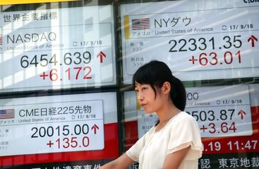 Global stocks gain slightly, US$ slips as investors await Fed