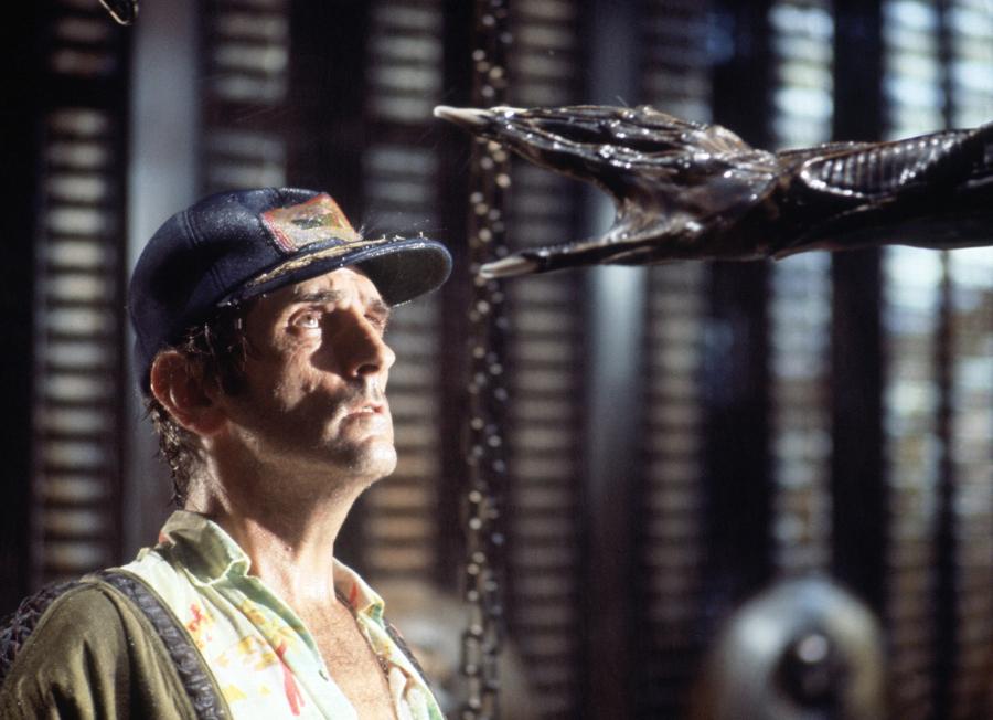 """Harry Dean Stanton faces an alien creature in a scene from the 1979 sci-fi-horror film """"Alien."""" Twentieth Century Fox"""
