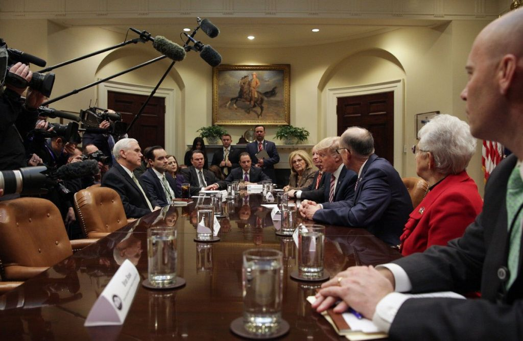 President Donald Trump discusses replacing the ACA with lawmakers.– Twitter Account for Vice President Mike Pence
