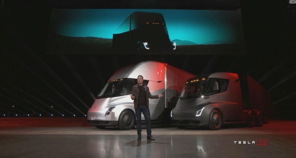 """I hope you like what you see,"" said Elon Musk while presenting the Tesla Semi"