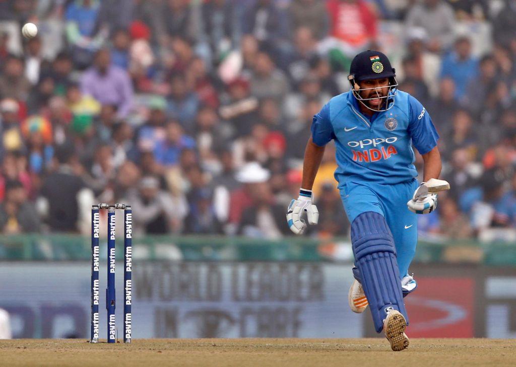 Rohit Sharma hit his second ODI double-century against Sri Lanka on Wednesday. Altaf Qadri  AP